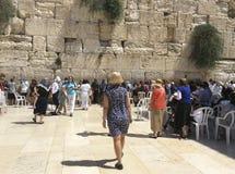 Pared que se lamenta de Jerusalén Israel Imagen de archivo libre de regalías