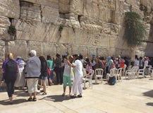 Pared que se lamenta de Jerusalén Israel Imágenes de archivo libres de regalías