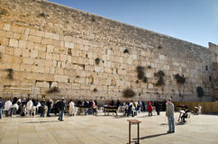 Pared que se lamenta de Jerusalén Fotografía de archivo libre de regalías