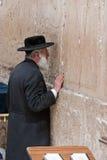 Pared que se lamenta Jerusalén, rogando Imagenes de archivo