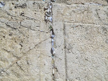 Pared que se lamenta Jeruzalem Imágenes de archivo libres de regalías
