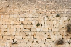 Pared que se lamenta (pared occidental) en la textura de Jerusalén Fotografía de archivo libre de regalías