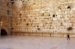 Pared que se lamenta vacía en Jerusalén Imagenes de archivo