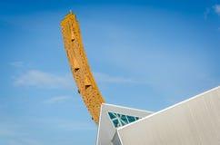 Pared que sube Groninga en el sportcentra Imagen de archivo libre de regalías