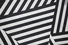 Pared rayada blanco y negro Foto de archivo