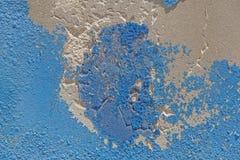 Pared resistida pintada azul Fotografía de archivo libre de regalías