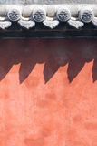 Pared roja Imagenes de archivo