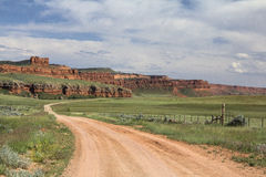 Pared roja cerca de Kaycee Wyoming Imágenes de archivo libres de regalías