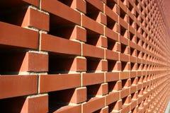 Pared roja de Bricked Imagen de archivo libre de regalías