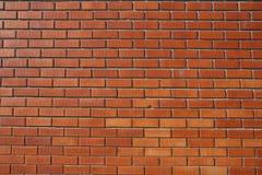Pared roja de Bricked Foto de archivo