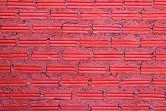 Pared roja de los ladrillos para el fondo Foto de archivo