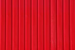 Pared roja del metal Fotografía de archivo