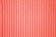 Pared roja vieja del metal Imagen de archivo libre de regalías