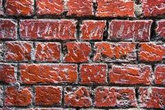 Pared roja vieja y rústica del bergantín Fotos de archivo libres de regalías