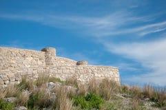 Pared romana de Zahara de la Sierra Imagenes de archivo