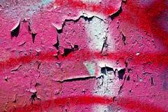 Pared rosada y roja de la peladura Fotografía de archivo libre de regalías