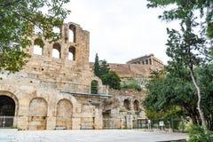Pared septentrional de Athene Amphitheater, Grecia foto de archivo libre de regalías