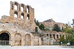 Pared septentrional de Athene Amphitheater, Grecia imagen de archivo libre de regalías