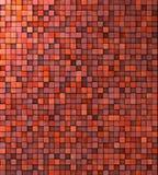 Pared sucia del mosaico en naranja rosada roja