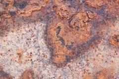 Pared superficial vieja del metal oxidado Imagenes de archivo