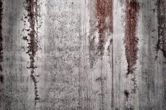 Pared Textured con las manchas de óxido rojas Foto de archivo