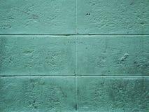 Pared verde concreta Imagen de archivo