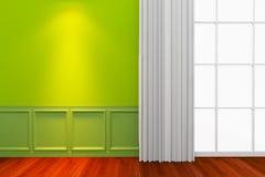 Pared verde interior stock de ilustración