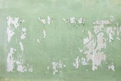 Pared verde vacía del cartel Imagen de archivo libre de regalías