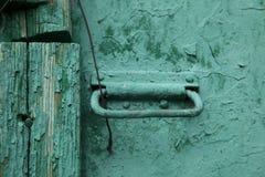 Pared verde vieja Imagen de archivo libre de regalías