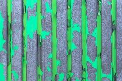 Pared verde vieja del hierro Imagenes de archivo