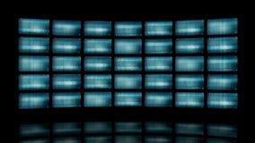 Pared video animada con las pantallas torcidas 4K stock de ilustración