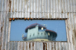 Pared, vidrio, torre Imágenes de archivo libres de regalías