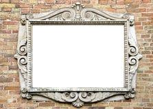 Pared vieja con el marco de la vendimia para el texto Fotos de archivo