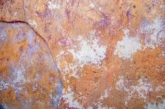 Pared vieja con la pintura agrietada Imagen de archivo libre de regalías