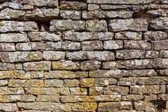 Pared vieja construida de piedras Foto de archivo libre de regalías