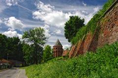 Pared vieja de la abadía benedictina en Jaroslaw polonia Imagen de archivo