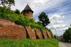 Pared vieja de la abadía benedictina en Jaroslaw polonia Fotografía de archivo
