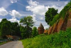 Pared vieja de la abadía benedictina en Jaroslaw polonia Imágenes de archivo libres de regalías