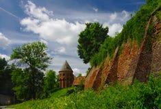 Pared vieja de la abadía benedictina en Jaroslaw polonia Imagenes de archivo