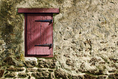 Pared vieja de la puerta y de la antigüedad Fotografía de archivo