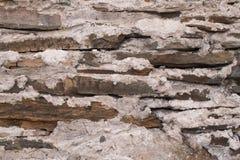 Pared vieja de la roca y del mortero Foto de archivo