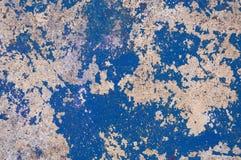 Pared vieja del cemento, construcción fuerte áspera de piedra antigua del fondo de la textura del diseño, modelo concreto azul Imagenes de archivo