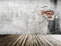 Pared vieja interior representación 3d Fotos de archivo