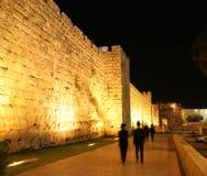 Pared vieja Jerusalén de la ciudad Foto de archivo libre de regalías