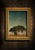 Pared y árbol sucios imagenes de archivo