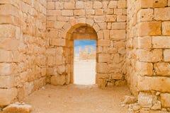 Pared y arco romanos Foto de archivo libre de regalías