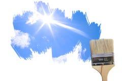 Pared y el cielo Imagenes de archivo