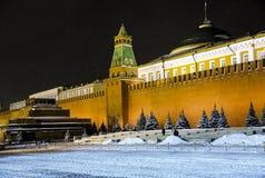 Pared y mausoleo del Kremlin en Plaza Roja Imágenes de archivo libres de regalías
