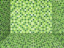 Pared y suelo de cerámica verdes claros Fotografía de archivo