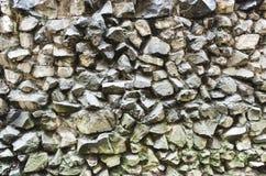 Parede áspera das rochas Fotografia de Stock
